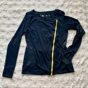 Black and Yellow Athleisure Zip-up